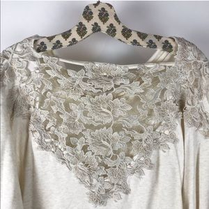 Anthropologie Sweaters - Meadow Rue Anthropologie White Bria Lace Sweater